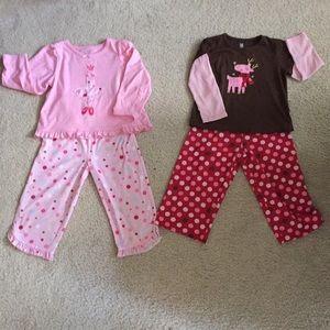 2 piece Carter's 3t pajamas